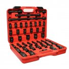 """ABN 1/2"""" Inch Drive Impact New Socket Set with Extensions & Swivel Joint Adapter Connector"""