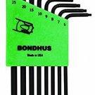 BONDHUS 32432 Set 8 Tamper Resistant Torx L-wrenches (TR6-TR25)