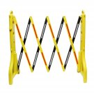 Clearance - BISupply Folding Barricade – 8'  Road Safety Barrier with Reflectors