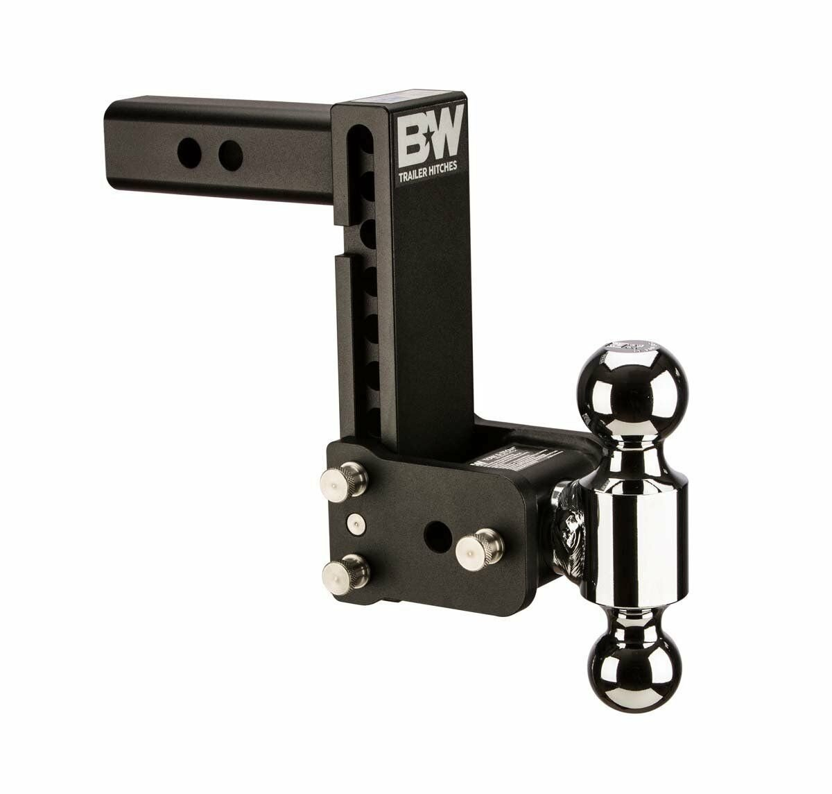 "B&W TS20040B Tow & Stow Double Ball Hitch 2-5/16"" x 2"" Balls with 2.5"" Shank"