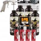 U-POL Raptor Tintable Hot Rod Red Bed Liner Kit w/ Spray Efficient Gun, 4L Upol