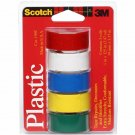"3M 190T Scotch Waterproof Vinyl Plastic Colored Tape.75"" x 125""2 PACK"