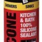 Dap Inc 08640 12 Pack 9.8 oz. Kitchen and Bath 100% Silicone Rubber Sealant