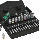 """Wera 05004019001 8100 SA 9 Zyklop Speed Ratchet Set, 1/4"""" Drive, Imperial"""