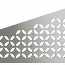 Quadrilat Corner Shelf-E - Floral Design - Brushed Stainless Steel (SES3D5EB)