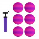 "8.5"" Inch Purple & Pink Playground Ball Four Square Balls 6pk & Pump"