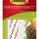 3M 65988 Command Small White Poster Strips, 12 Strips