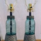 bucket ball mason jar lamp set