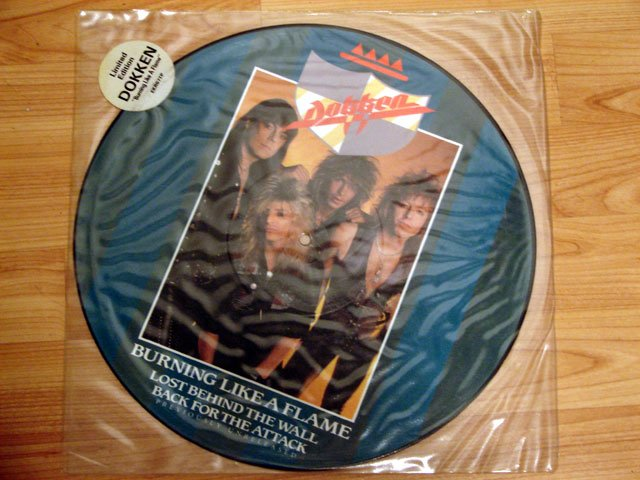 """DOKKEN BURNING LIKE A FLAME PICTURE DISC 12"""""""