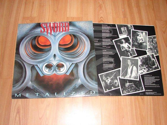 SWORD METALIZED VINYL LP RECORD