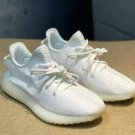 the 1 pairs of yeezys shoes triple white US size 7