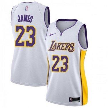 Women's Los Angeles Lakers #23 LeBron James Jersey Dress ...