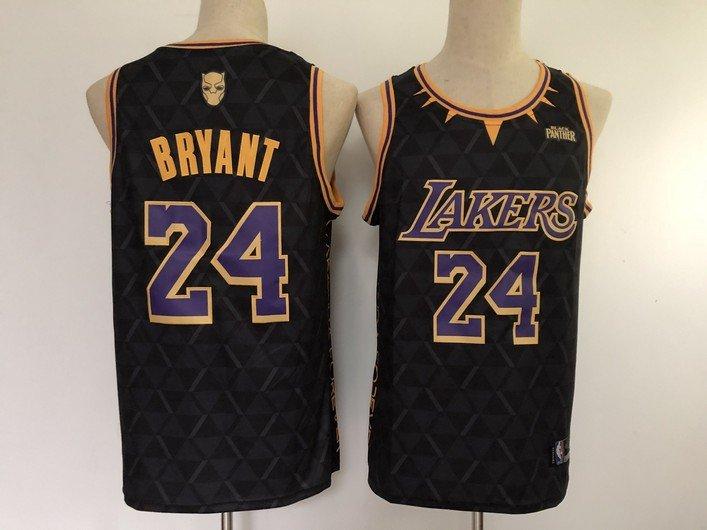 Men's Los Angeles Lakers #24 Kobe Bryant Jersey x BLACK ...