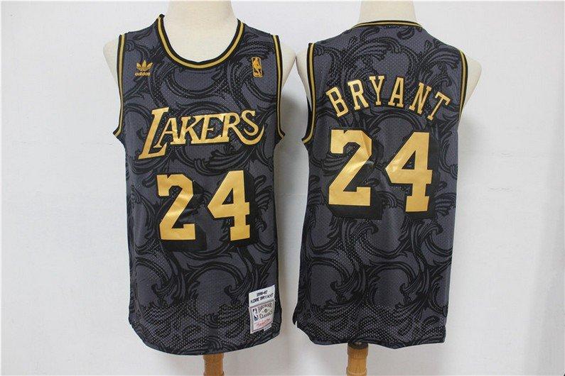 Men's Los Angeles Lakers #24 Kobe Bryant Jersey Throwback ...