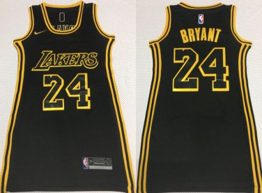 Women's Los Angeles Lakers #24 Kobe Bryant Jersey Dress Black ...