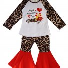 Happy Valentine's Day Leopard Bell Pants Set