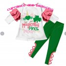 Girl St.Patrick Shirt Pant Set Magically Pinch Proof ** ST. PATRICK COLLECTION**