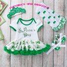 Baby Girl 4 Pc. Baby Saint Patrick Romper Dress **ST PATRICK COLLECTION**