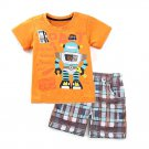 Toddler Boys Robot T-Shirt Tops Short Set