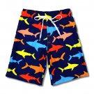 Toddler Boys Quick Dry Swim Trunks Shark Theme