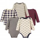 Hudson Baby..Infant Boys Long Sleeve Cotton Bodysuits