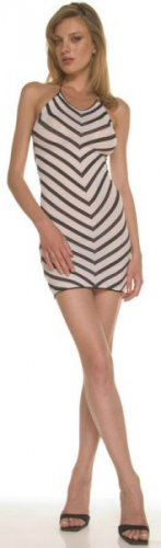 Striped Halter Mini Dress - New