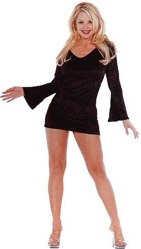Velvet Bell Sleeved Mini Dress - New