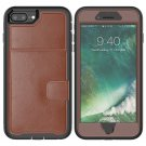Leather Protective Case with Holder & Card Slot For Galaxy S10(Brown)