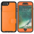 Leather Protective Case with Holder & Card Slot For Galaxy S10(Orange)