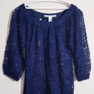 Diane Von Furstenberg Lace Blouse Dark Blue