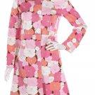 Anna Sui floral coat flowers