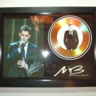michael buble  signed disc