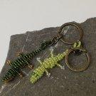 Crocodile keychain made with beads