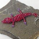 Big Crocodile keychain made with beads.