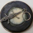 Crocodile Keychain made with metal beads