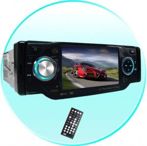 TV Tuner + Bluetooth Car DVD VIDEO Player - Plays DivX + MP4