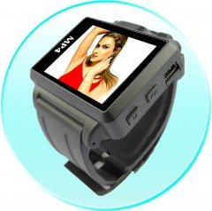 Widescreen MP4 Player Watch - 1.8 Inch Display - 1GB