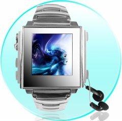 1GB High Fashion ALL METALIC Mens MP4 Watch - 1.5 Inch OLED Screen