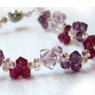 Sweet Trinity Crystal Bracelet (Tanzanite/Ametyst/Ruby)