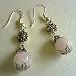 Sweet Rose Quartz  Earrings