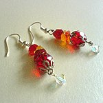Scarlet Glitter Earrings