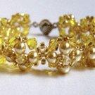 Fine Handcrafted Bracelet - Xquisite Elegance (Golden)