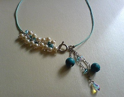 Turquoise Drops Choker / Necklace