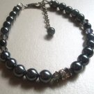 Handcrafted bracelet - Black Pearl Beauty
