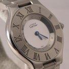Cartier Must De Cartier 21 Stainless Steel 1330 Vintage 1990's Mens Watch...31mm
