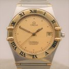 Omega Constellation 18k Solid Gold Half Bar/SS Automatic Mens Watch....35mm