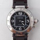 Cartier Pasha Seatimer W31077U2 Rubber Bracelet 2790 Automatic Mens Watch...40mm