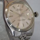 Rolex Datejust 1603 Vintage 1975 Silver Sunburst Pie Pan Dial Mens Watch....36mm