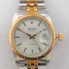 Bulova Super Seville Date Two-Tone Swiss Automatic Vintage Mens Watch....36mm