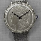 "1900 Morgan Silver Dollar Coin Watch Swiss LeJour Movement....""Pristine""....38mm"